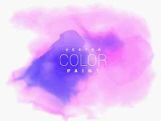 五颜六色的水彩污点墨水背景
