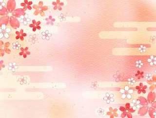 樱桃粉彩_粉红色背景1662