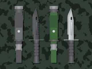 刺刀锋利的金属例证