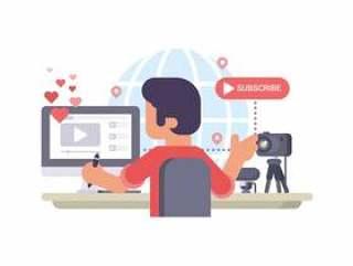 视频Blogger创作者制作视频流