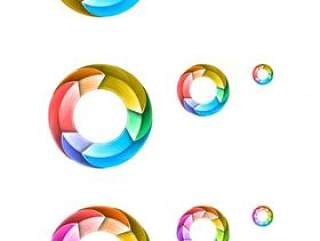 动感旋转圆环图标——psd分层素材