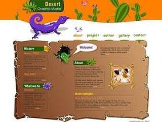 卡通风格的网页模板