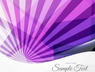 抽象时髦紫色背景与光线和几何形状