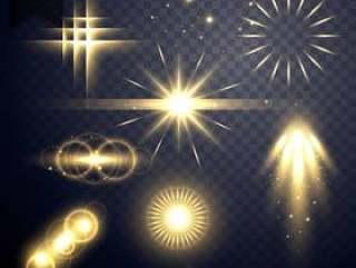 镜头光晕透明光效果闪耀设计