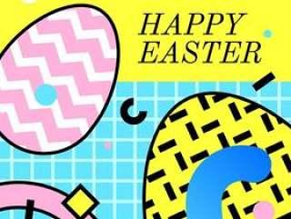 复活节快乐问候孟菲斯传染媒介