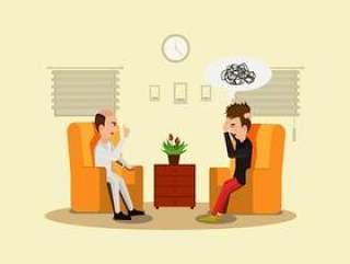 心理学家插画矢量