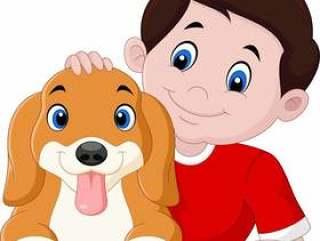 小男孩和小狗