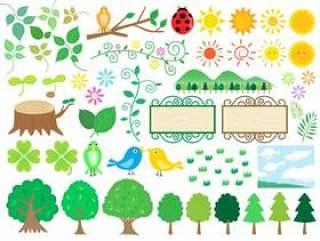 森林的插图集