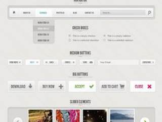 WebUI界面PSD分层素材