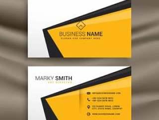 与平黄色黑色和白色的创意名片设计c