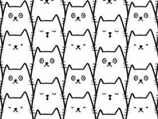猫无缝图案背景