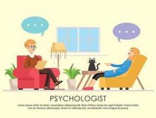 心理学家矢量图