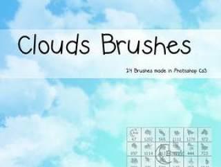 高清晰蓝天白云PS笔刷