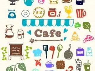 咖啡厅风格邮票一套
