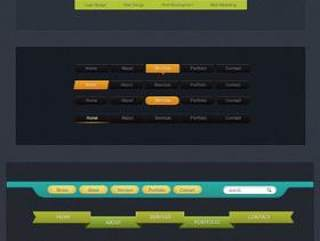 网页导航条设计PSD分层
