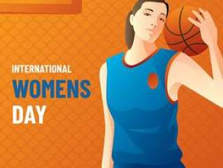 国际妇女节篮球传染媒介