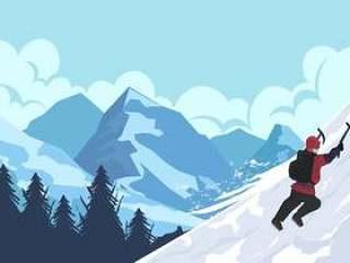 与登山家的山