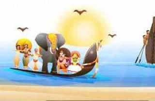 Onam节日庆祝背景。