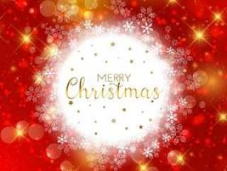 装饰圣诞雪花背景