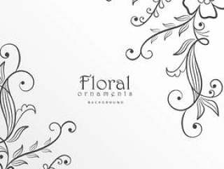 时尚的现代花卉背景设计