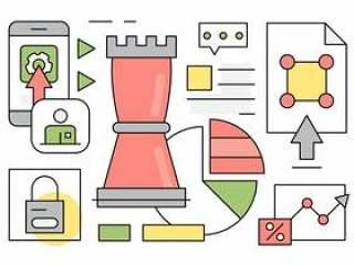 线性业务战略图标