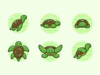 乌龟字符插图