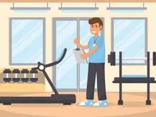 造型师健身教练矢量