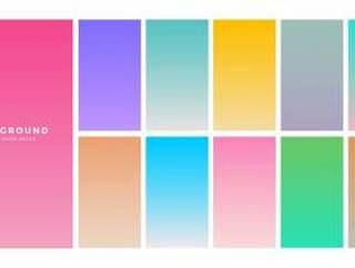 多彩的软梯度为移动应用程序设置