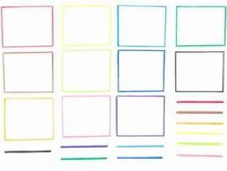 柔和的颜色框架