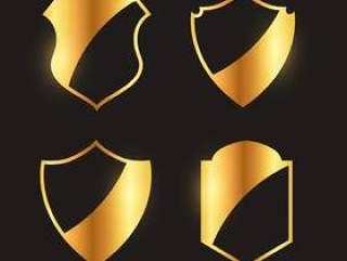 优质金徽章会徽和标签设计集合