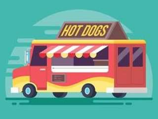 食物卡车矢量图