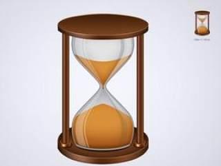 时间沙漏图标PSD分层