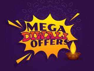 巨型diwali节日提供销售横幅传染媒介设计