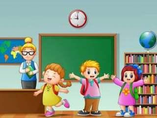 有学生的女老师在教室
