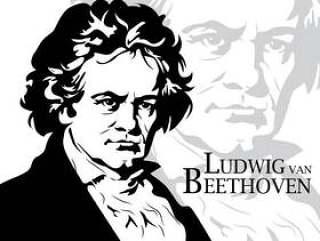 贝多芬矢量肖像