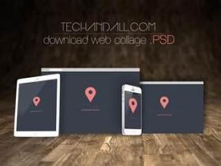 多款网页平板手机PSD素材模版