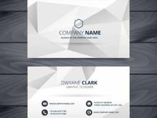 现代干净的白色和灰色名片设计模板