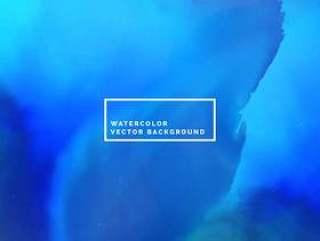 抽象的蓝色墨水水彩背景