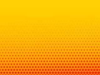 明亮的橙色黄色喜剧风格半色调背景