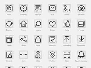 线描icon