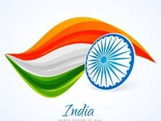 印度国旗抽象设计矢量设计插画