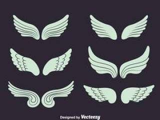 天使的翅膀集合矢量