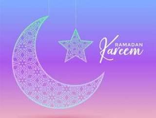 创造性的月亮和明星设计为斋月贾巴尔和eid节日