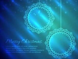 圣诞快乐圣诞设计在闪亮的背景中