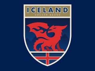 冰岛世界杯足球徽章