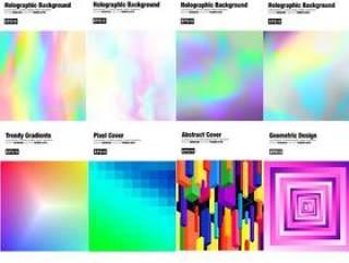 40款国外迷幻极简蒸汽波几何创意时尚封面海报背景AI素材模板背景设计