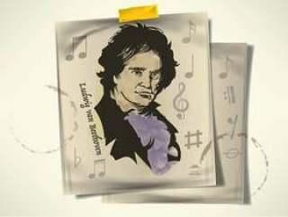 手绘贝多芬向量