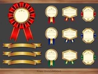 奖牌和丝带插图