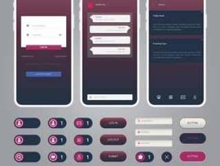 线框元件的移动及其在现代风格平面设计中的应用