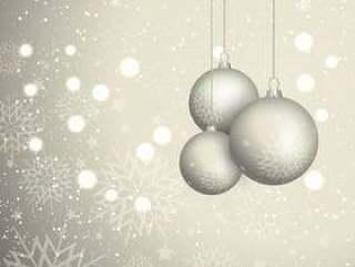 圣诞摆设背景与雪花